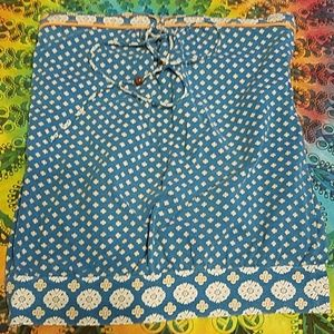 Tube top Fang size large blue with orange print
